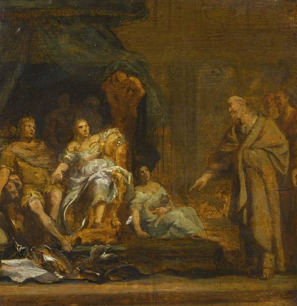 Wall Art - Painting - Circle Of Gerard De Lairesse A Historical Scene by Celestial Images