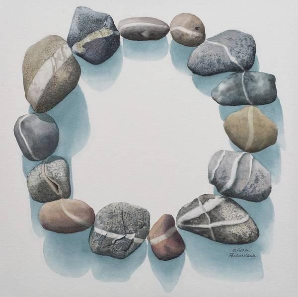 Pebble Painting - Circle Of Kindred Spirits by Karen Richardson