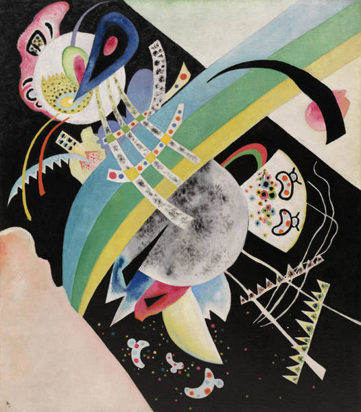 Visual Illusion Wall Art - Painting - Circles On Black, 1921 by Wassily Kandinsky