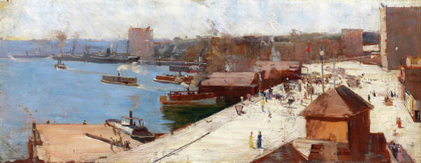 Wall Art - Painting - Circular Quay - Digital Remastered Edition by Arthur Streeton