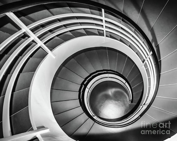 Photograph - Circular Stairway by Lyl Dil Creations