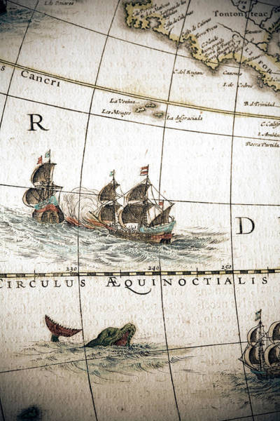 Vertical Line Digital Art - Circulus Aequinoctalis, Historical Map by Goldhafen