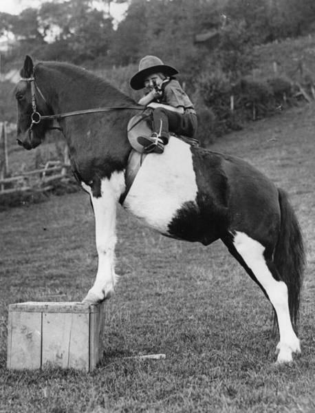 Girl And Horse Photograph - Circus Tot by Fox Photos
