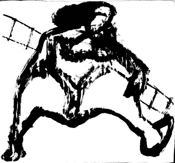 Drawing - Circus Woman by Artist Dot