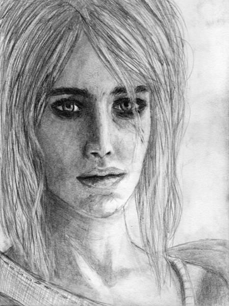 Drawing - Ciri Interpretation by Luke Mitchell