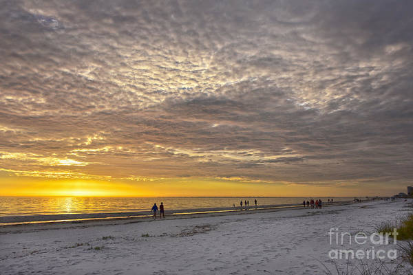 Wall Art - Photograph - Cirrocumulus Clouds At Fort Myers Beach Sunset by Catherine Sherman
