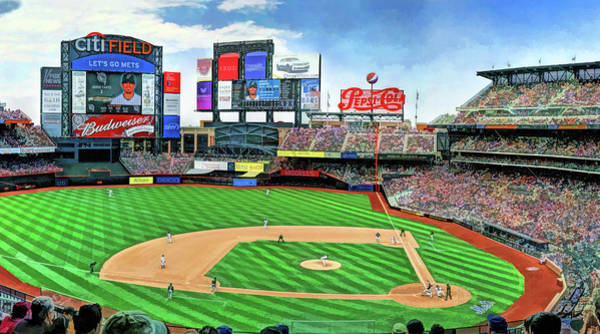 Painting - Citi Field New York Mets Baseball Ballpark Stadium by Christopher Arndt