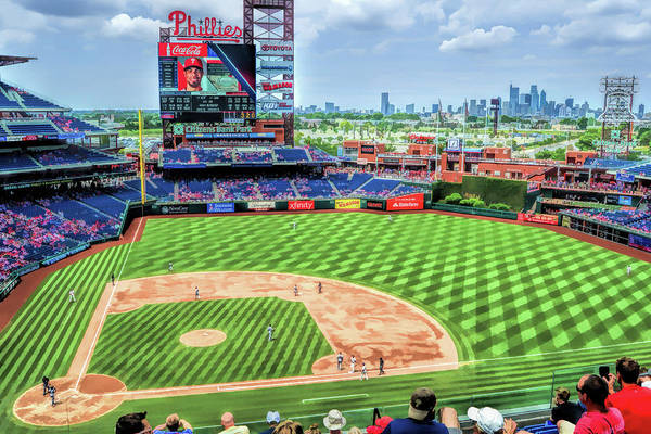 Citizens Bank Park Wall Art - Painting - Citizens Bank Park Philadelphia Phillies Baseball Ballpark Stadium by Christopher Arndt