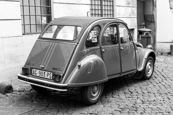 Photograph - Citroen 2cv Special In Rome by John Rizzuto