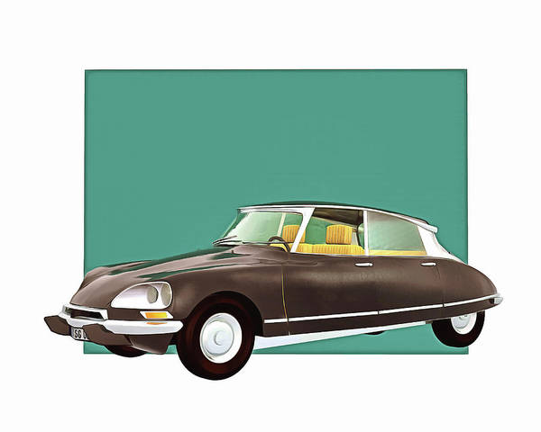 Digital Art - Citroen Ds Pallas by Jan Keteleer
