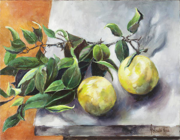 Wall Art - Painting - Citrus by Jolante Hesse