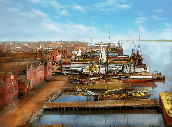 Photograph - City - Alexandria Va - A View From Pioneer Mill 1865 by Mike Savad