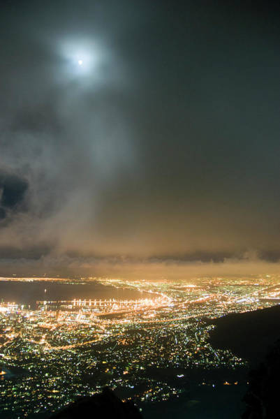 Table Mountain Wall Art - Photograph - City And Harbour Illuminated At Night by Andy Nixon