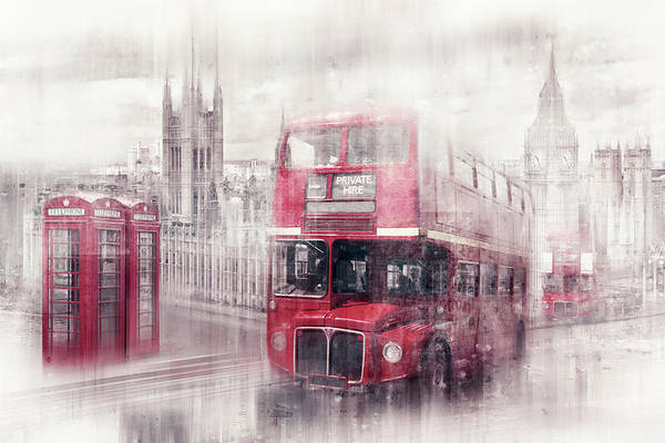 Wall Art - Photograph - City-art London Westminster Collage II by Melanie Viola