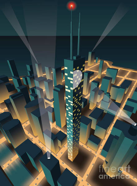 Wall Art - Digital Art - City At Night by Nikola Knezevic