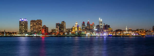 Photograph - City At Night - Philadelphia Along The Waterfront by Bill Cannon