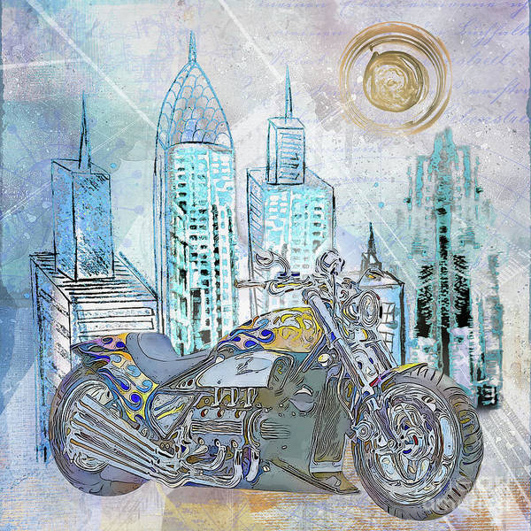 Wall Art - Digital Art - City Bike by Elisabeth Lucas