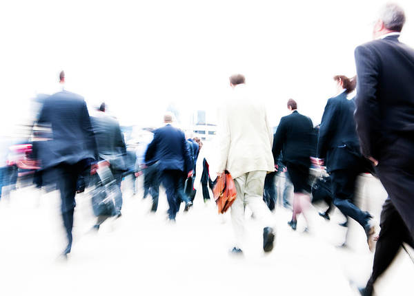 Real People Photograph - City Business by Rawpixel