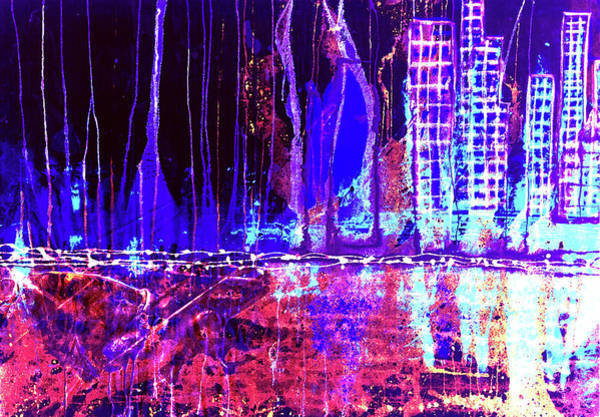 Mixed Media - City By The Sea L by Giorgio Tuscani