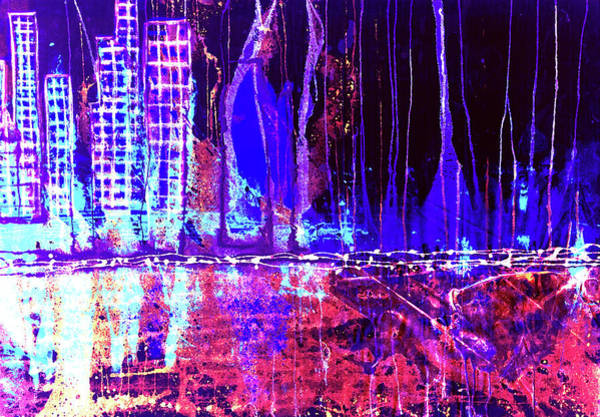 Mixed Media - City By The Sea Right by Giorgio Tuscani