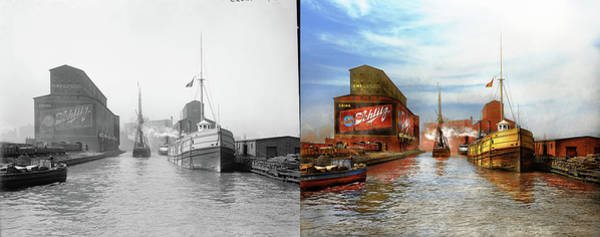 Wall Art - Photograph - City - Chicago Il - Drink Schlitz - 1900 Side By Side by Mike Savad