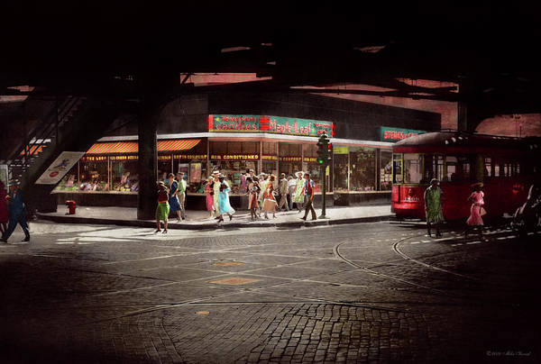 Photograph - City - Chicago Il - Maple Leaf Restaurant And Candies 1940 by Mike Savad