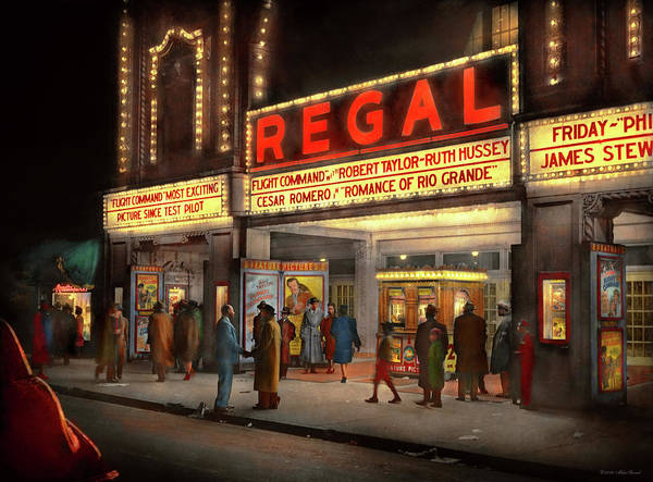 Photograph - City - Chicago Il - Nightlife At The Regal Theater 1941 by Mike Savad