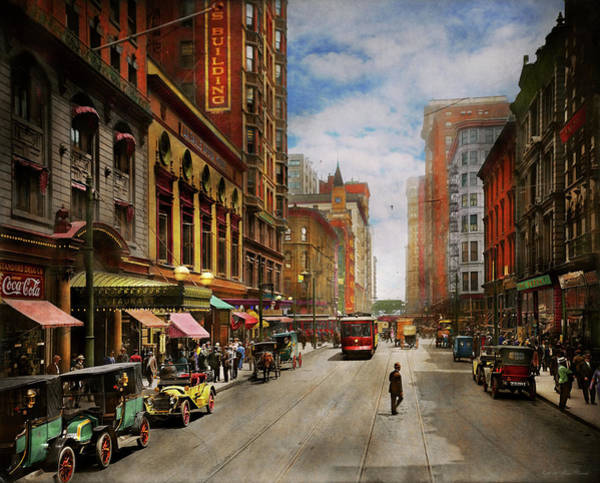 Photograph - City - Chicago Il - The Brevoort Hotel 1910 by Mike Savad