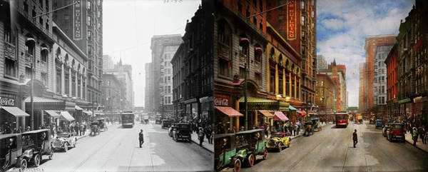 Photograph - City - Chicago Il - The Brevoort Hotel 1910 - Side By Side by Mike Savad