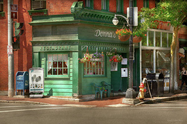 Photograph - City - Corning Ny - Donna's Restaurant by Mike Savad