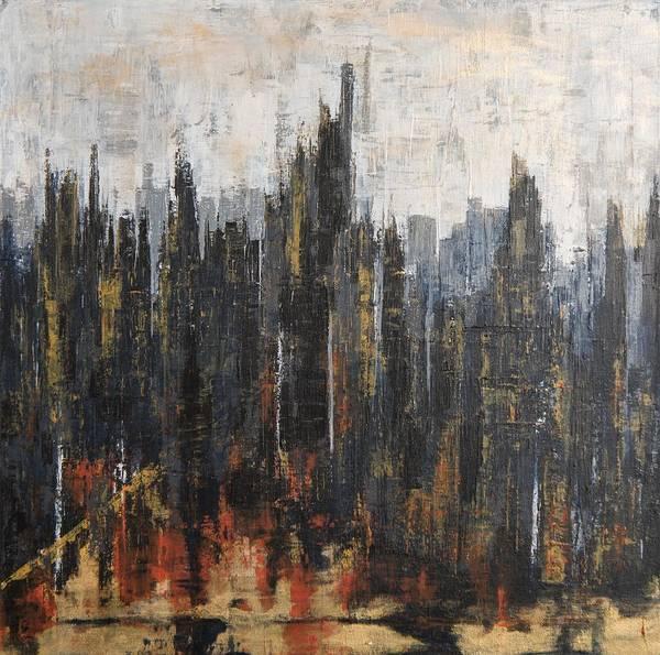 Painting - City Glow by Nicole Korbe