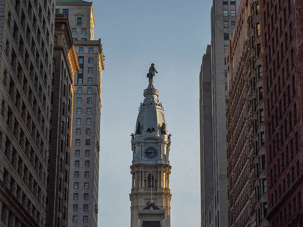 Wall Art - Photograph - City Hall From Broad Street - Philadelphia by Bill Cannon