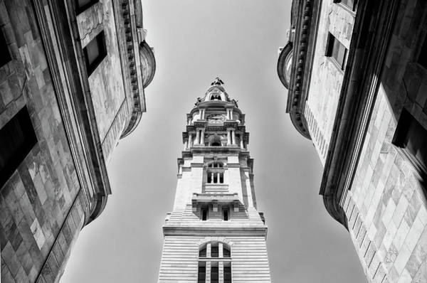 Photograph - City Hall In Center City Philadelphia In Black And White by Bill Cannon