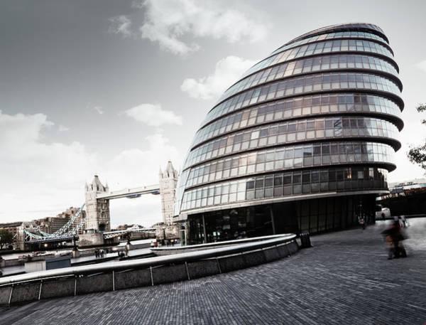 South Bank Photograph - City Hall, London by R-j-seymour