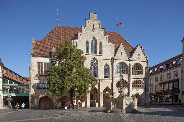 Wall Art - Photograph - City Hall On The Market Square Old Town Hildesheim Lower Saxony Germany by imageBROKER - Torsten Krueger