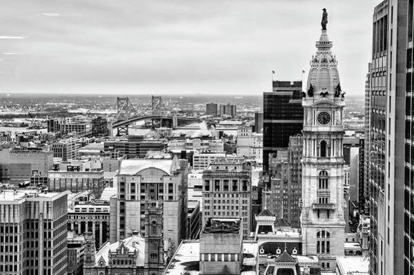 Wall Art - Photograph - City Hall Tower In Black And White - Philadelphia by Bill Cannon