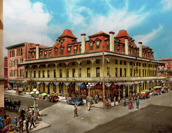 Photograph - City - Jacksonville Fl - The New Duval Hotel 1910 by Mike Savad