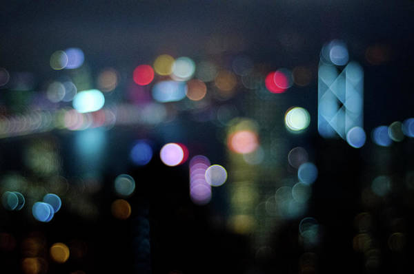 Cityscape Photograph - City Lights Bokeh by Megan Ahrens
