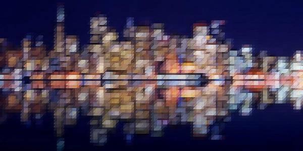 Digital Art - City Lights IIII by David Manlove