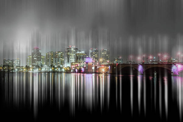 Photograph - City Lights Of West Palm Beach by Wolfgang Stocker