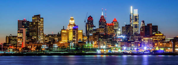 Photograph - City Lights On The River - Philadelphia by Bill Cannon