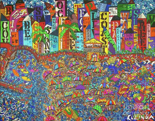 Wall Art - Painting - City Meets The Bay by Karen Elzinga