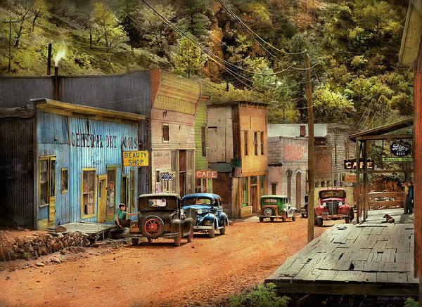 Photograph - City - Mogollon Nm - Before The Ghosts 1940 by Mike Savad