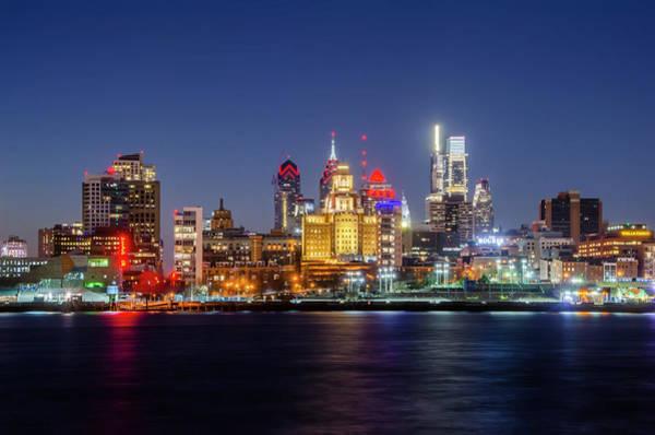 Wall Art - Photograph - City Nights - City Lights - Philadelphia by Bill Cannon