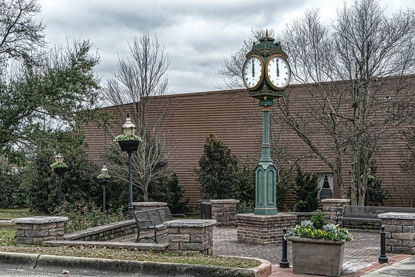 Photograph - City Of Brewton Clock by Sharon Popek