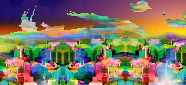 Wall Art - Digital Art - City Of Light Panoramic by Phil Sadler