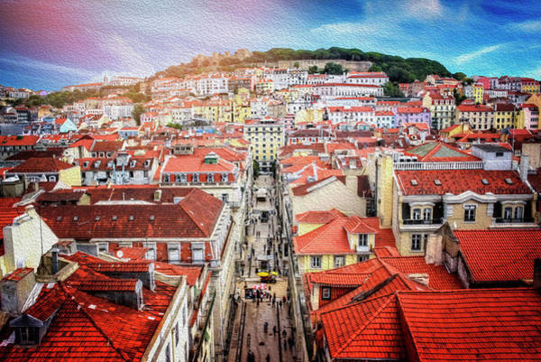 Wall Art - Photograph - City Of Lisbon From Elevador De Santa Justa  by Carol Japp