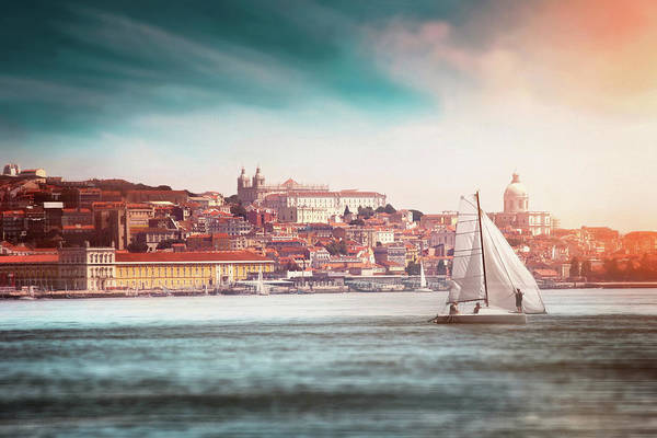 Wall Art - Photograph - City Of Lisbon From The Tagus River  by Carol Japp