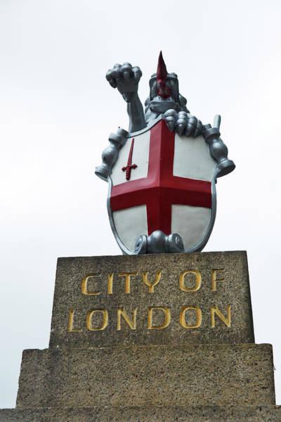 Wall Art - Photograph - City Of London Dragon Boundary Mark At London Bridge by Ian Middleton