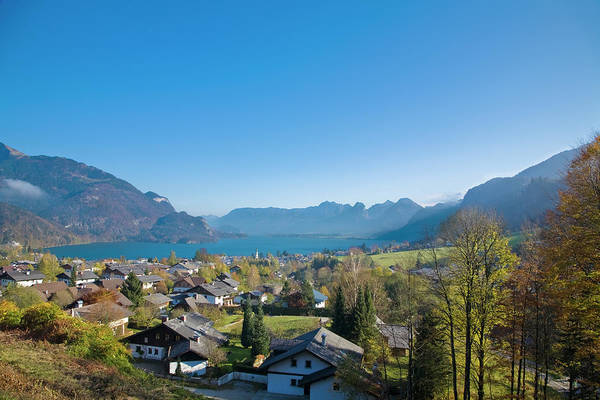 Wall Art - Photograph - City Of St. Wolfgang, Wolfgangsee, Alps by Inti St. Clair